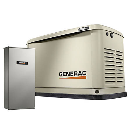 Generac 7043 - Guardian Series 22kW/19.5kW Air Cooled Home Standby Generator w/ Whole House 200 Amp Transfer Switch (non CUL)
