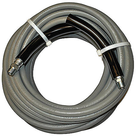 Eaglewash I Gray Wrapped Pressure Washer Hose, 4000 PSI, Temperature: 14 deg. F to 310 deg. F, 50 ft.
