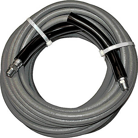 Eagleflex II Grey 6000 Wrapped Nitrile RMA Class B Pressure Washer Hose Assembly, 3/8 in. x 50 ft., 6000 PSI