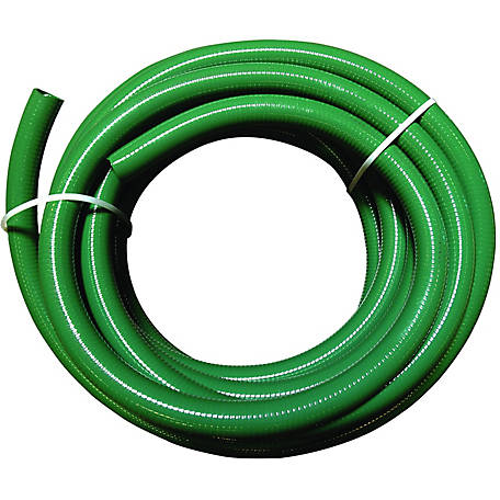 Eagle Green PVC Suction Hose, 2 in. x 15 ft Bulk Uncoupled, 50 PSI , -10 deg. F to 140 degrees.