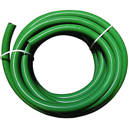 Eagle Green PVC Suction Hose, 3 in. x 50 ft Bulk Uncoupled, 50 PSI , -10 deg. F to 140 degrees.