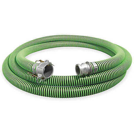 Eagle Green/Black EPDM Suction Hose Assembly, 3 in. x 20 ft., 45 PSI , -40 deg. F to 140 deg. F