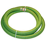 Eagle Green/Black EPDM Suction Hose Assembly, 4 in. x 20 ft.Coupled Male x Female Water Shank, 38 PSI , -40 deg. F 140 deg. F,