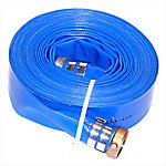 Eagleflo Blue PVC Discharge Hose Assembly, 1.5 in. x 25 ft., Coupled Male x Female Water Shank, 80 PSI , -4 deg. F to 150 deg. F