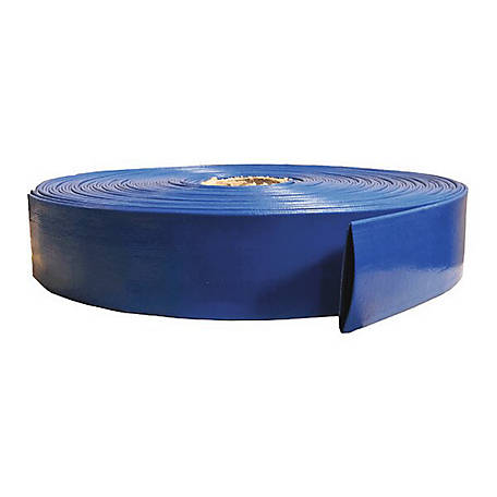 Eagleflo Blue PVC Discharge Hose Assembly, 3 in. x 100 ft., 70 PSI Maximum Pressure, , -4 deg. F to 150 deg. F