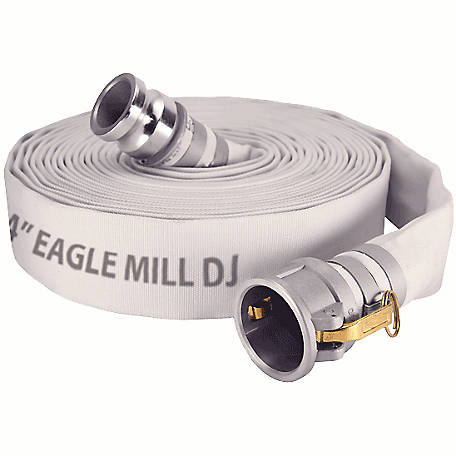 Eagle Mill Discharge Hose Assembly, Coupled 3 in. Male x Female (CXE) Camlocks, 150 PSI, -25 deg. F to 185 deg. F