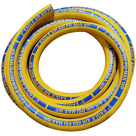 Eagle Air Wire Reinforced Hose Assembly, 2 in. x 50 ft., -22 deg. F 200 deg. F