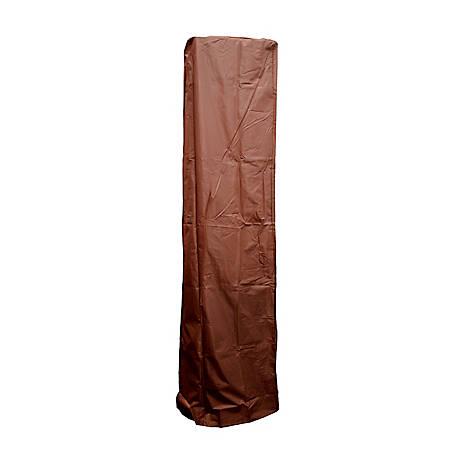 AZ Patio Heaters Square Glass Tube Patio Heater Cover in Mocha, HVD-SGTCV-M