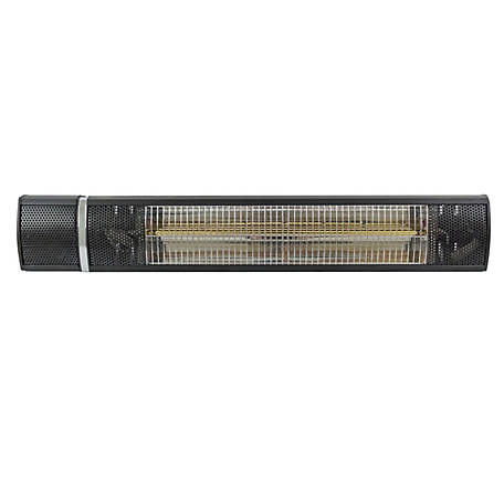 AZ Patio Heaters Wall Mount Black Electric Heater, HIL-TW15R