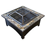 AZ Patio Heaters Wood Burning Fire Pit With Slate Top, FT-51133D