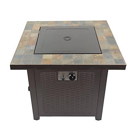 AZ Patio Heaters Square Slate Fire Pit, GFT 60843