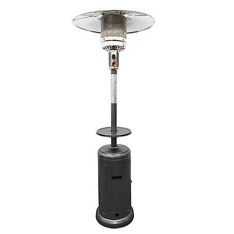 AZ Patio Heaters Outdoor Hammered Silver Patio Heater, HLDS01-CB