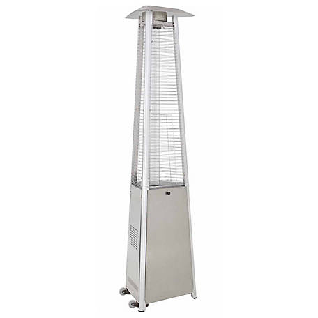 AZ Patio Heaters Commercial Glass Tube Stainless Steel Patio Heater, HLDS01-CGTSS