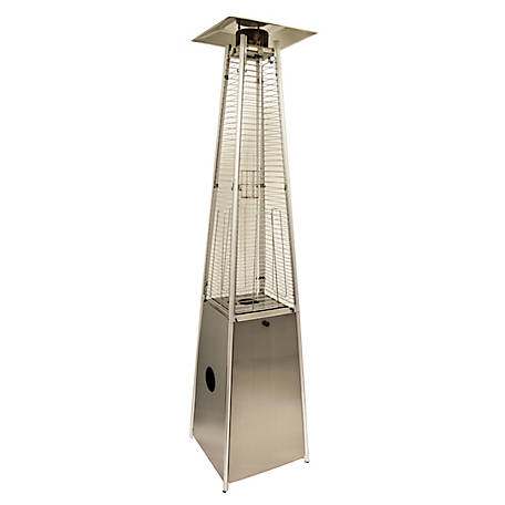 AZ Patio Heaters Glass Tube Patio Heater, HLDS01-GTSS