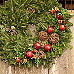 Cottage Farms Direct Fresh Cut Christmas 24 in. Grapevine Evergreen Wreath - Cottage Hill