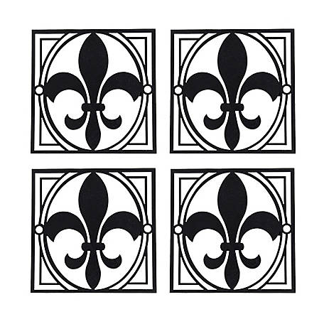 YARDGARD Fleur-De-Lis Decorative Fence Emblem