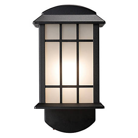 Maximus Smart Security Companion Textured Black Metal and Glass Outdoor Wall Lantern