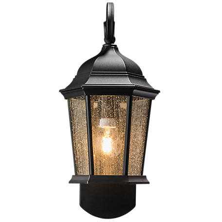 Maximus Coach Smart Security Companion Textured Black Motion Activated Outdoor Wall Mount Lantern