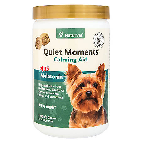 NaturVet Quiet Moments Plus Melatonin Soft Chew Jar, 79903729