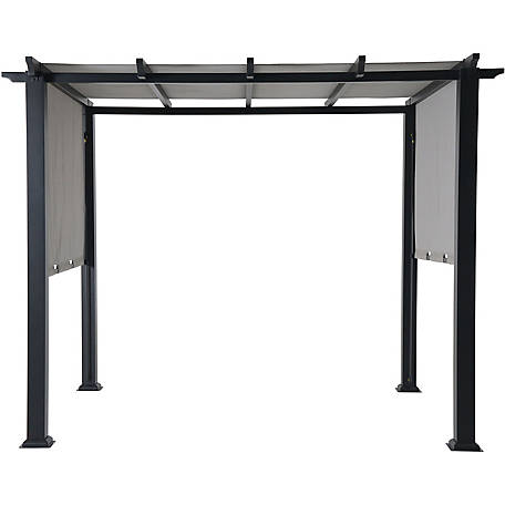 Hanover Hanover 8 x 10 ft. Metal Pergola with Adjustable Gray Canopy