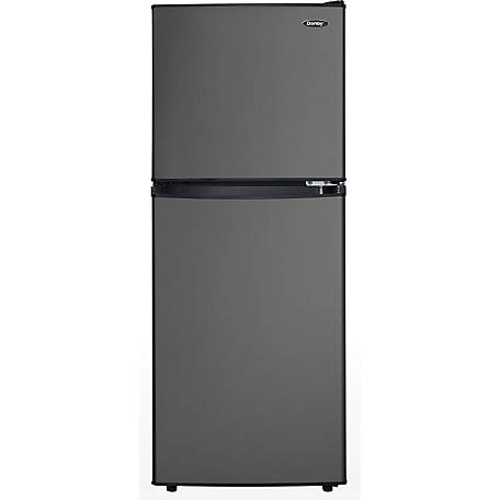 Danby 4.7 cu. ft. Dual Fridge/Freezer Black Stainless Steel