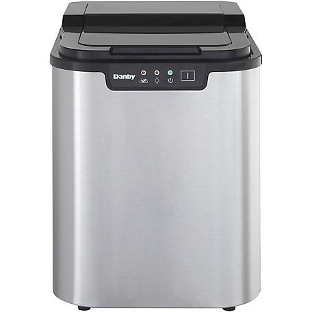 Danby Ice Maker In Stainless Steel/Black