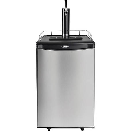 Danby 5.4 cu. ft. Single-Tap Kegerator Black Steel Door