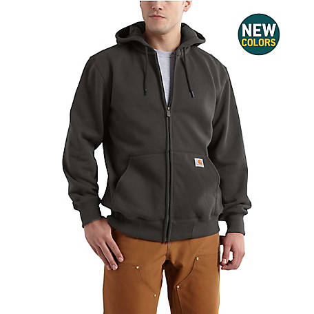 Carhartt Men's Rain Defender Paxton Heavy Weight Hooded Zip Front Sweatshirt