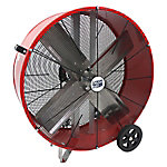 30 in. Direct Drive Galvanized Steel Barrel Fan, Red