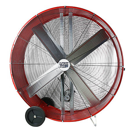 MaxxAir 48 in. Belt Drive Galvanized Steel Barr, BF48BDRED