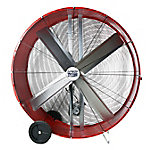 MaxxAir 48 in. Belt Drive Galvanized Steel Barrel Fan, BF48BDRED