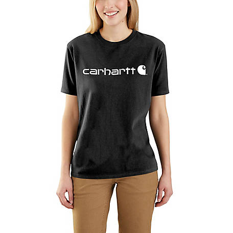 Carhartt Women's Short Sleeve Logo Scoop Tee