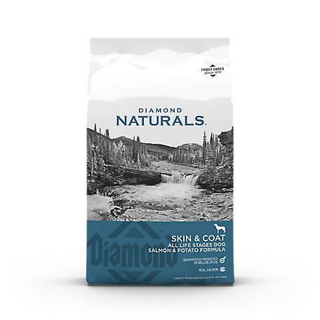 Diamond Naturals Skin & Coat Formula All Life Stages Grain Free Dry Dog Food, 30 lb.