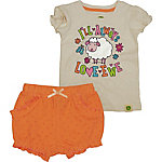 John Deere Girls' Infant Girl Short Sleeve & Shorts Set Love Ewe