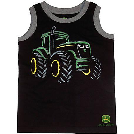 60c28354 John Deere Boys' Toddler Boy Sleeveless Tee Tractor Muscle at ...