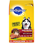 Pedigree High Protein Adult Dry Dog Food, 50 lb.