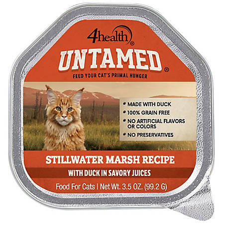 4health Untamed Still Water Marsh Recipe With Duck In Savory Juices Wet Cat Food, 3.5 oz.