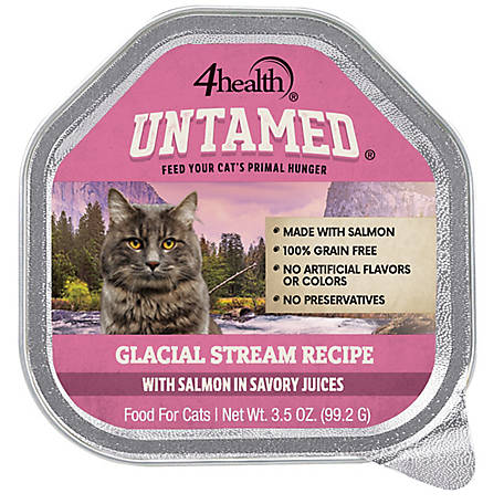 4health Untamed Glacial Stream Recipe With Salmon In Savory Juices, 3.5 oz.