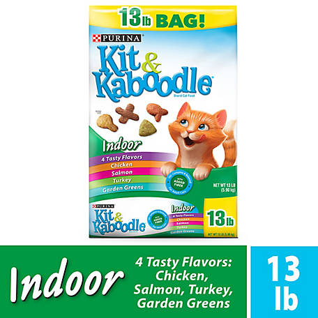 Purina Kit & Kaboodle Indoor Dry Cat Food, Indoor, 13 lb. Bag