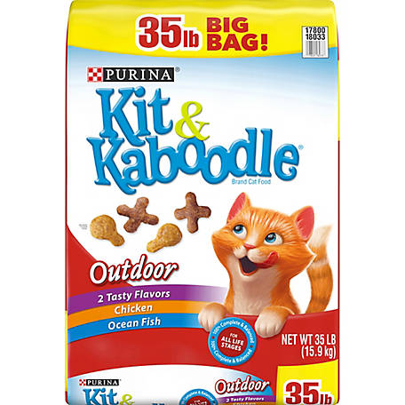 Kit & Kaboodle Purina Kit & Kaboodle Outdoor Adult Dry Cat Food, 35 lb. Bag