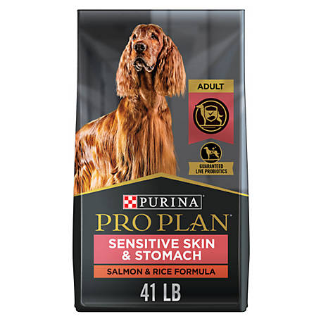Purina Pro Plan FOCUS Sensitive Skin & Stomach Salmon & Rice Formula Adult Dry Dog Food, 41 lb. Bag