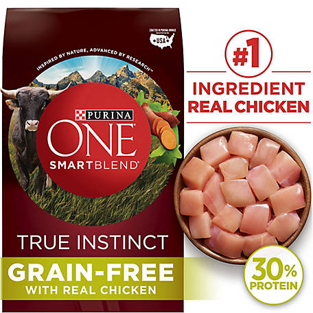 Purina ONE SmartBlend True Instinct Natural Grain-Free Formula with Real Chicken & Sweet Potato Adult Dry Dog Food, 25 lb. Bag