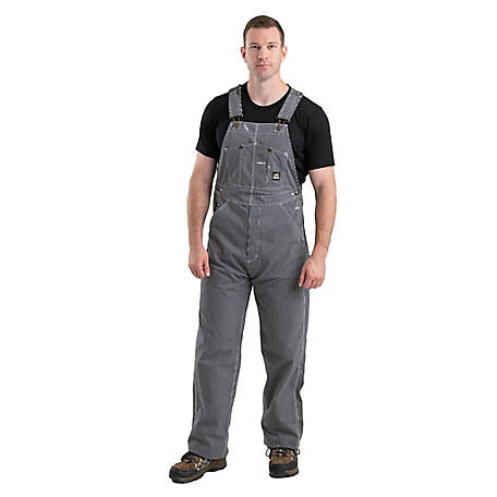 Berne Men's Hickory Stripe Unlined Bib Overalls 618