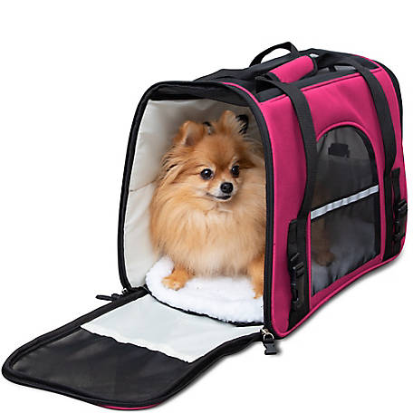 Paws & Pals Soft Sided Pet Carrier, PTCR01-LG-BK