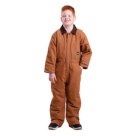 Berne Kid's Insulated Quilt-Lined Duck Shell Coveralls