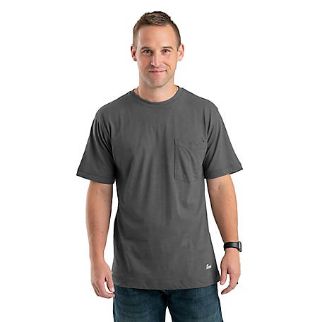 Berne Men's Lightweight Performance Cotton/Poly Blend Pocket T-Shirt