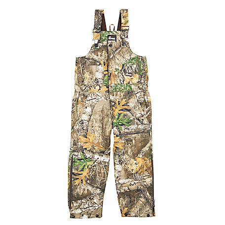 Berne Kid's Realtree Edge Camouflage Insulated Bib Overalls