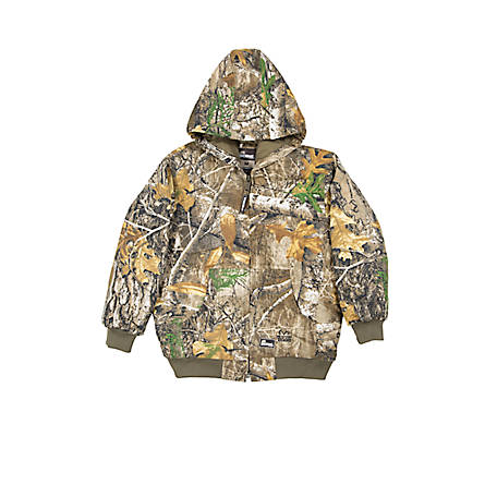 Berne Kid's Realtree Edge Camouflage Insulated Hooded Jacket