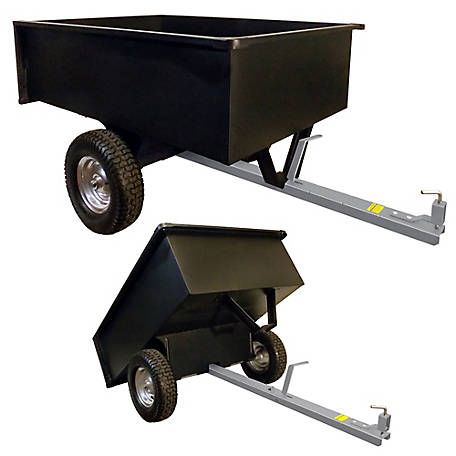 GroundWork Tow-Behind Dump Cart, 17 cu. ft. Heaped Capacity, LC1503TBL