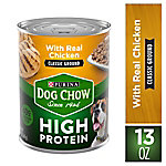 Purina Dog Chow High Protein Pate Wet Dog Food With Real Chicken, 13 oz. Can